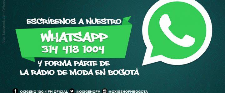 925478e923 Escríbenos al WhatsApp Oxígeno - Oxigeno.fm
