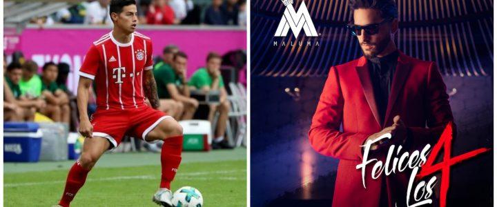James Rodríguez canta 'Felices los 4'