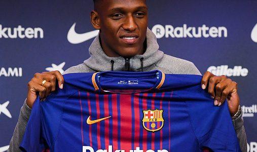 Yerry Mina podría debutar con el FC Barcelona en Copa del Rey