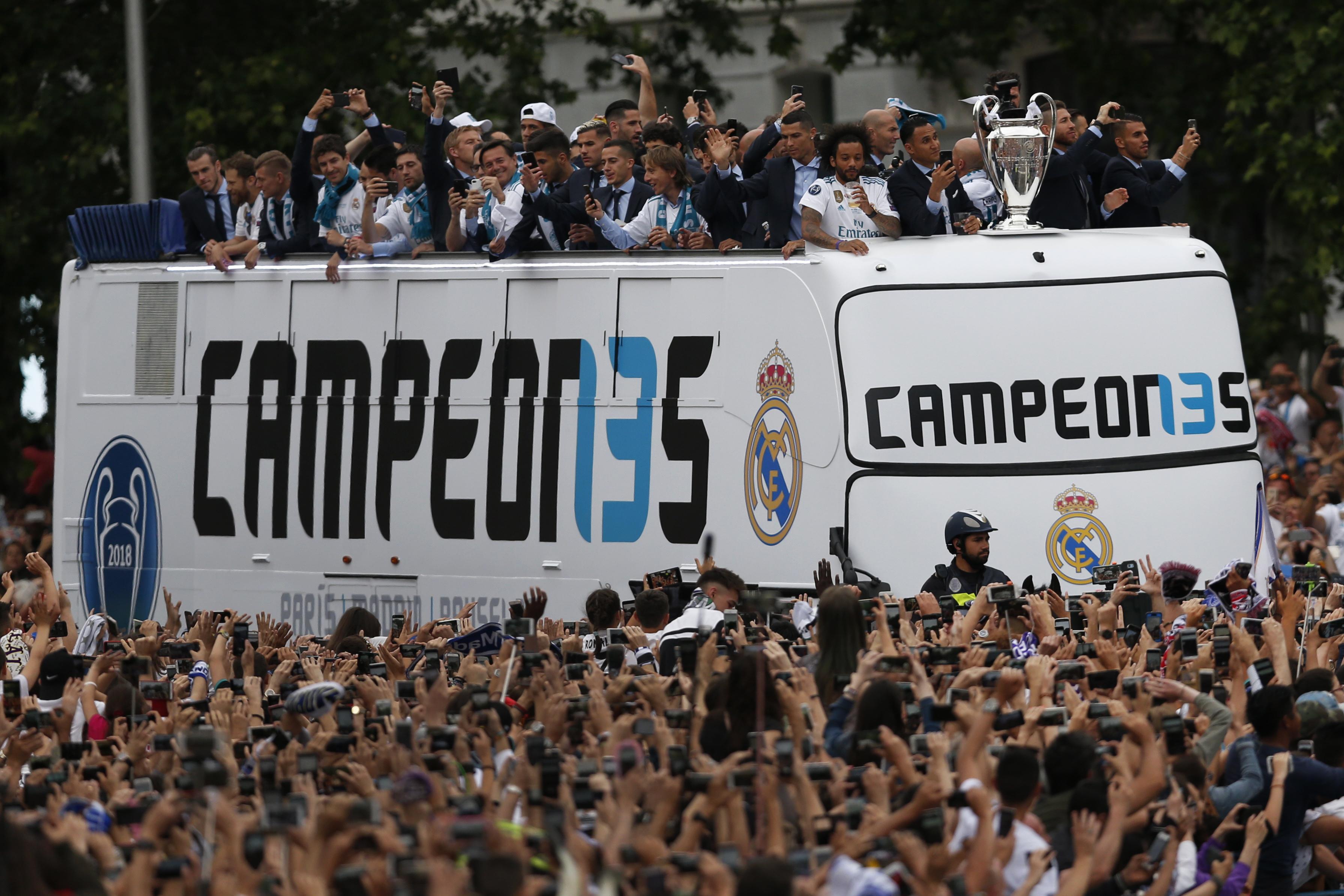 Spain Soccer Champions League Celebrations