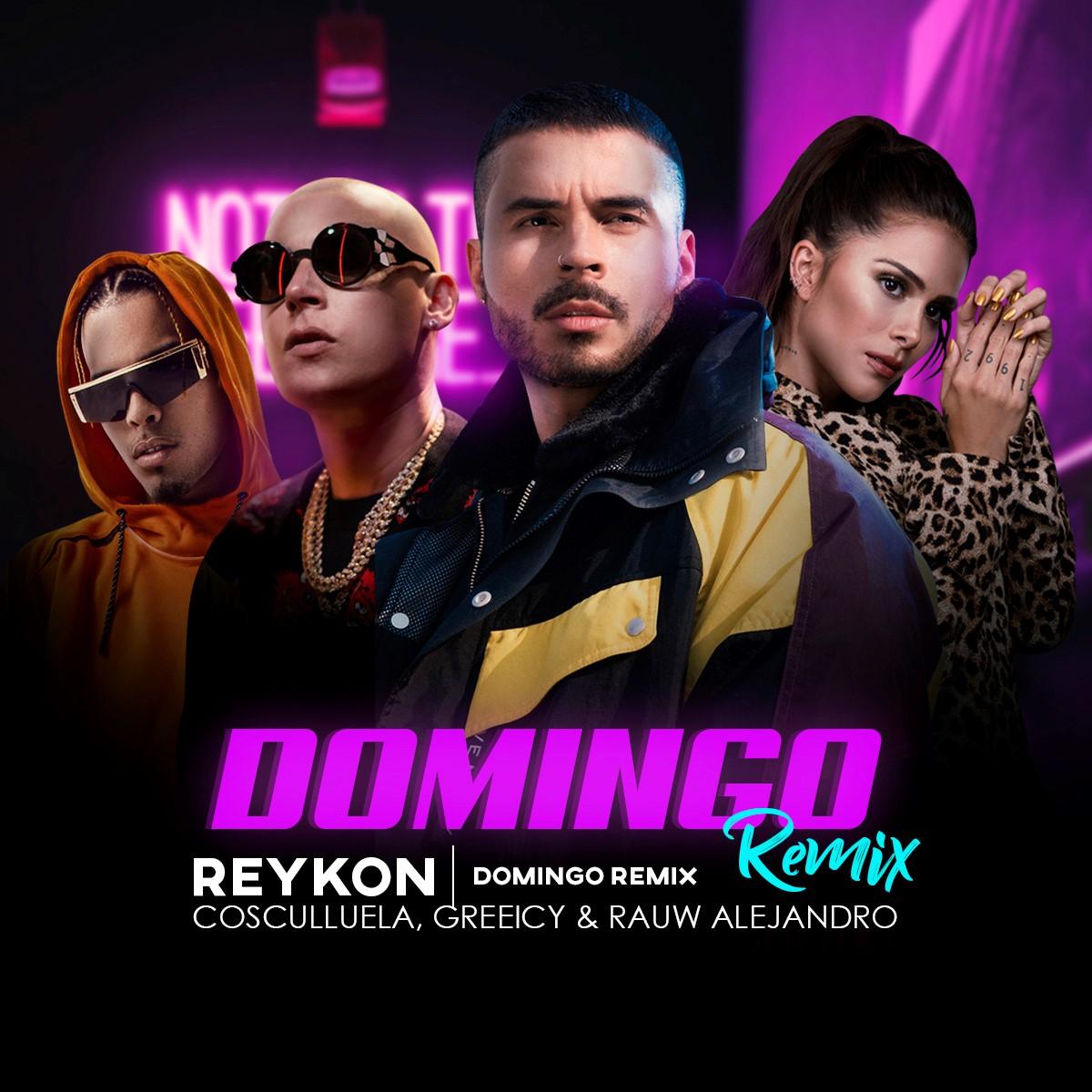 """Reykon presenta el remix de """"Domingo"""" junto a Cosculluela, Greeicy y Rauw Alejandro"""