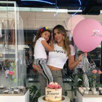 Daniela Ospina y su hija Salomé Rodríguez