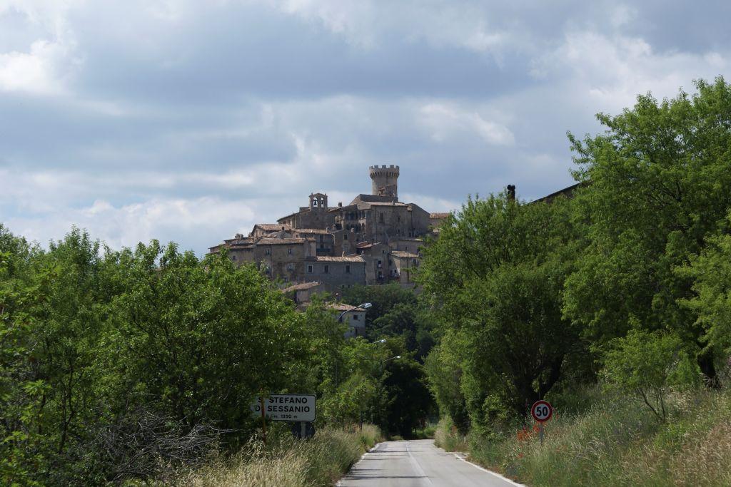 View of the Medicean Tower of Santo Stefano di Sessanio. L'Aquila. Abruzzo. Italy. Europee