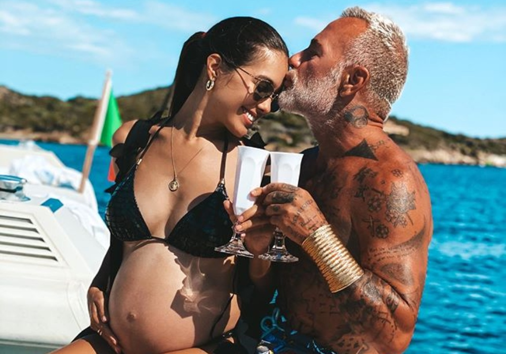 Novia de Gianluca Vacchi posa completamente desnuda a pocos días de dar a luz
