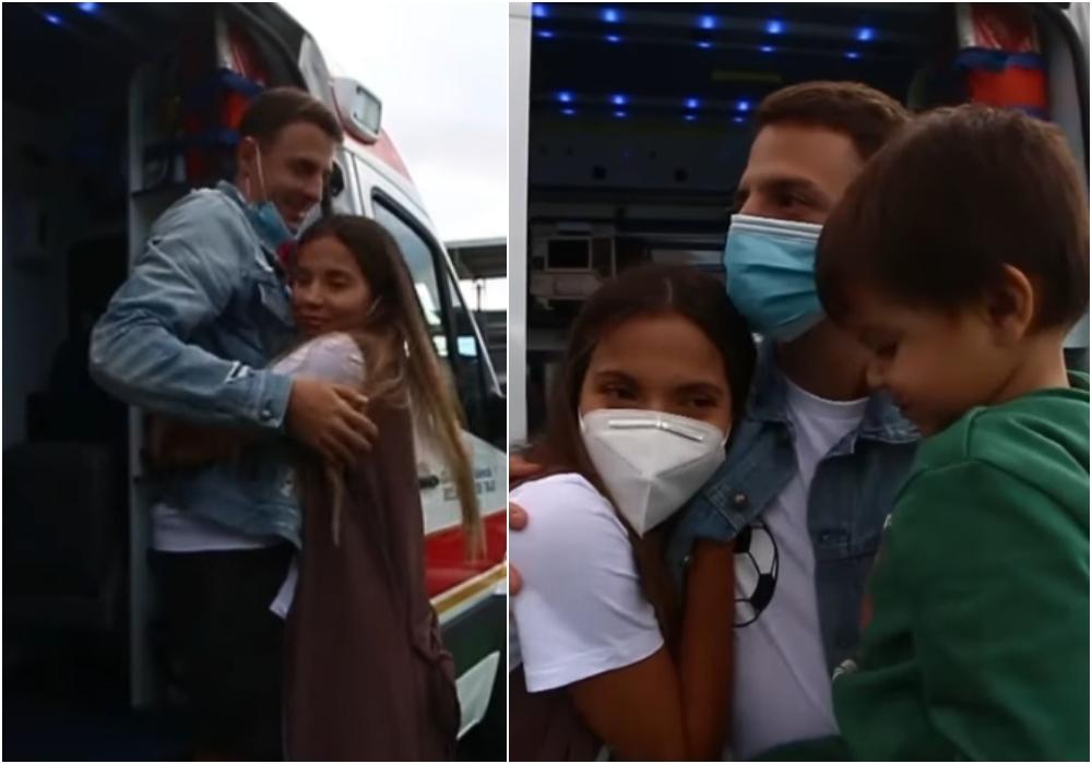 Con un emotivo reencuentro, Santiago Arias vuelve a ver a su familia tras su lesión