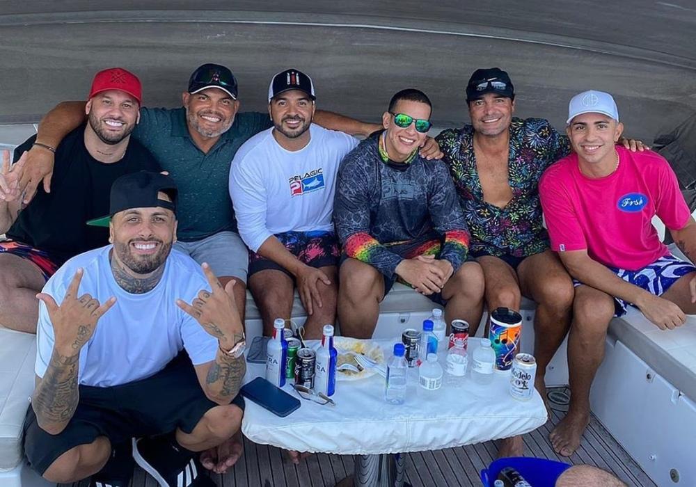 Daddy Yankee, Nicky Jam y Chayanne se reunieron en un yate y la foto se vuelve viral