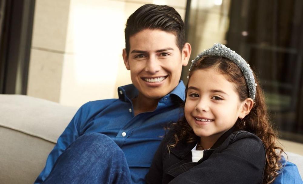James Rodríguez le hace una divertida promesa a su hija Salomé