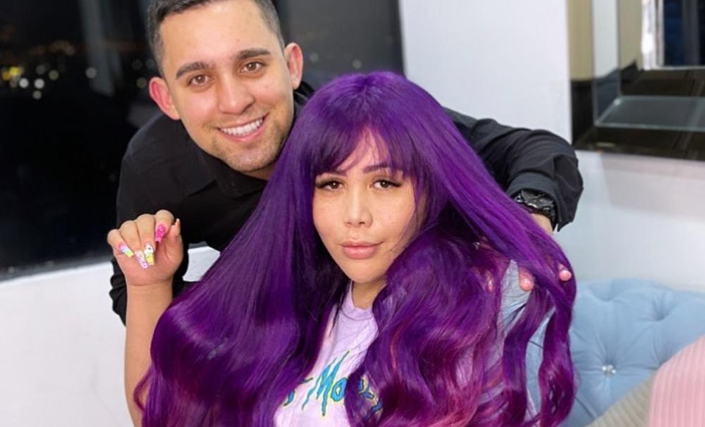 Yina Calderón no se aguantó ni un día con el cabello morado y se lo volvió a pintar