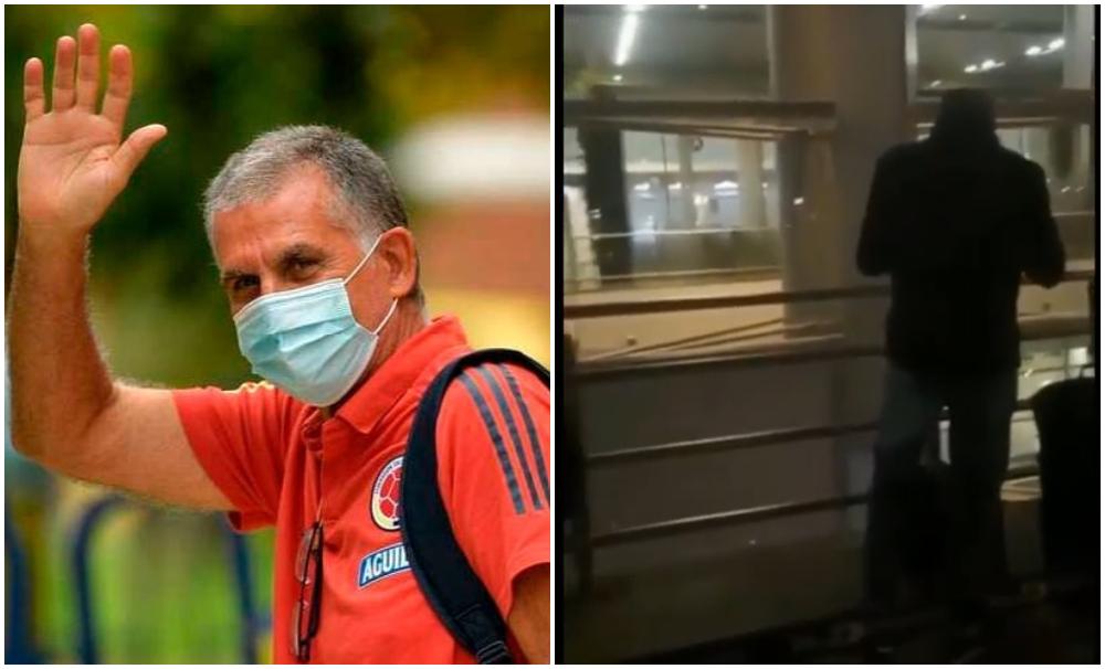 Así fue la solitaria y tímida despedida de Carlos Queiroz en Bogotá