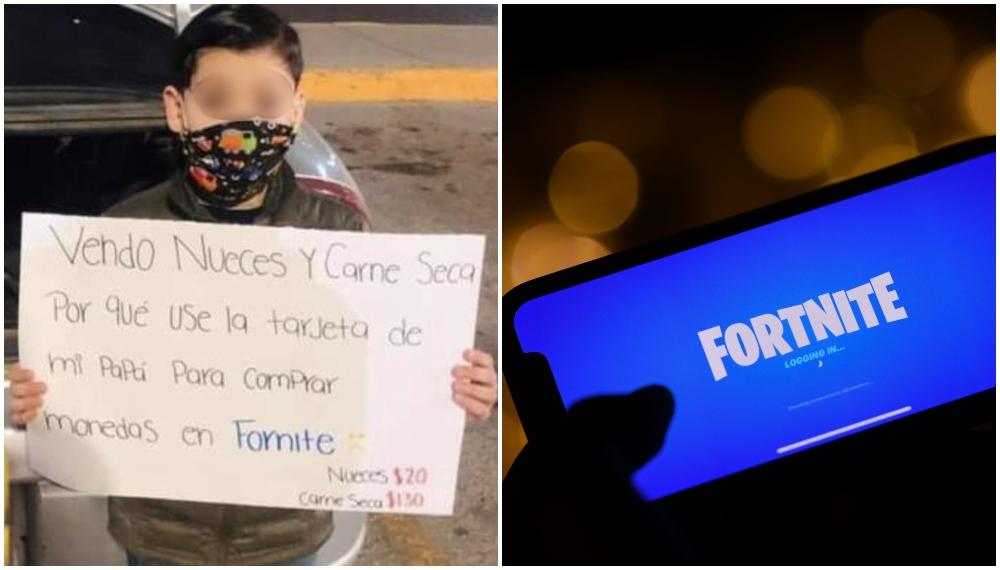 Ponen a un niño a vender en la calle por usar la tarjeta del papá en Fortnite