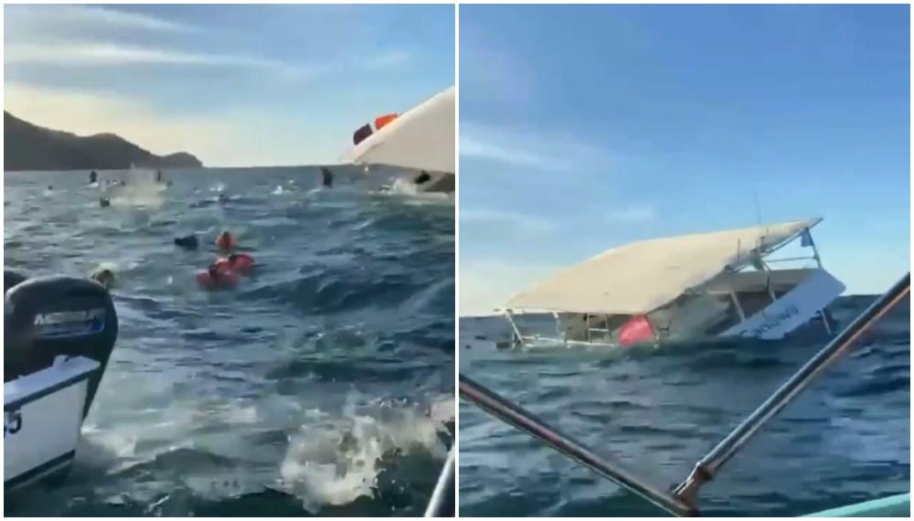 Al estilo Titanic: turistas se llevaron un susto porque se hundió el barco donde paseaban