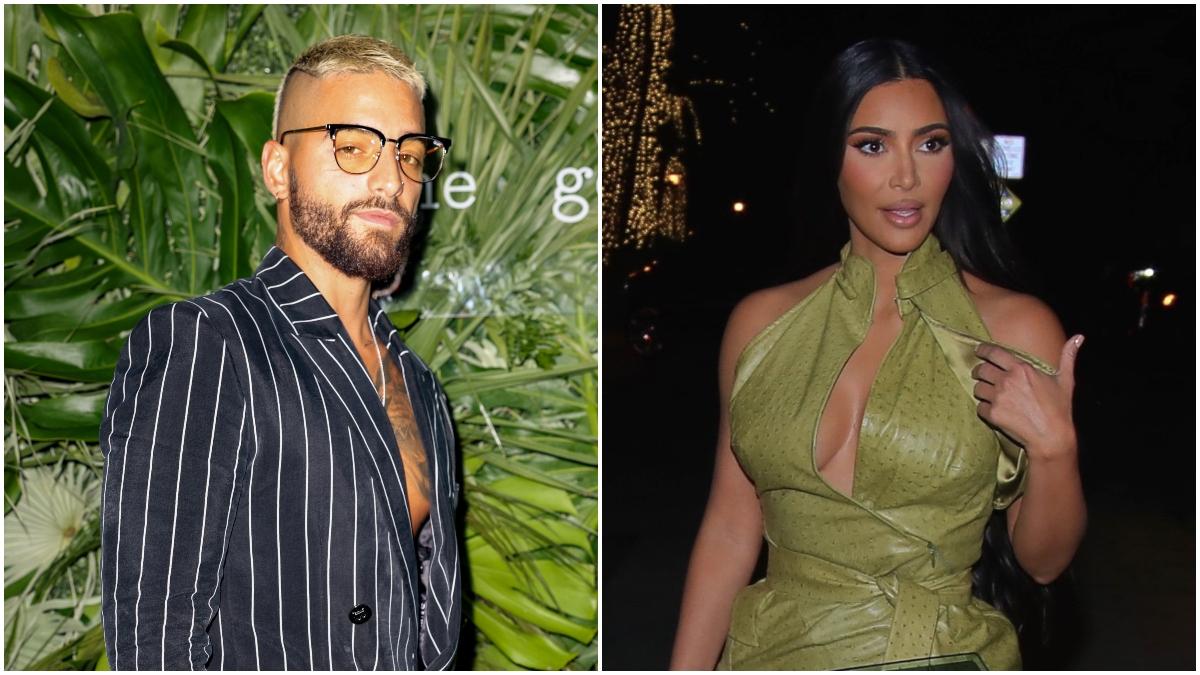 Maluma y Kim Kardashian de fiesta