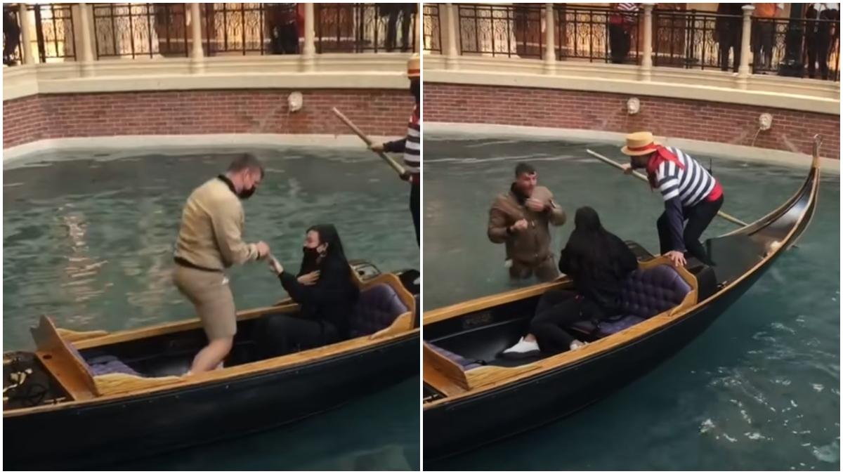 Video propuesta matrimonio en una góndola