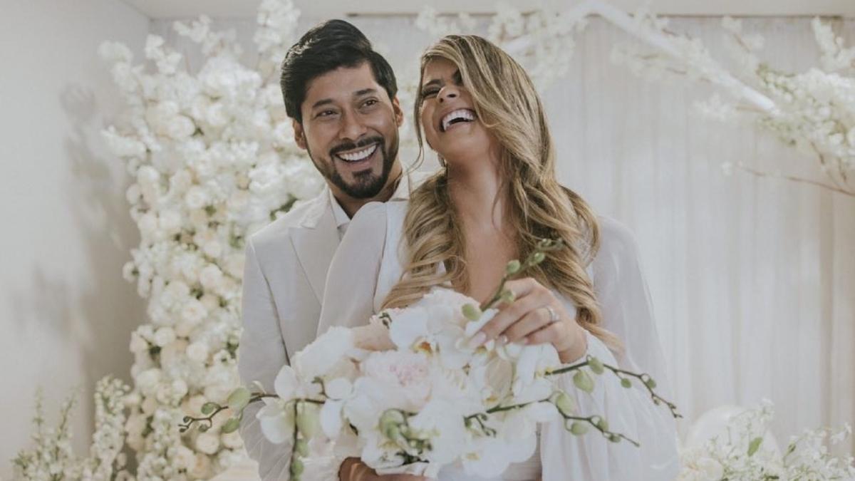 Esposa de Lowe León compartió imágenes inéditas de su boda