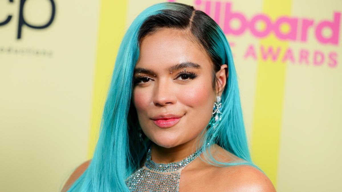 Karol G en la gala de los premios Billboard, mayo del 2021.