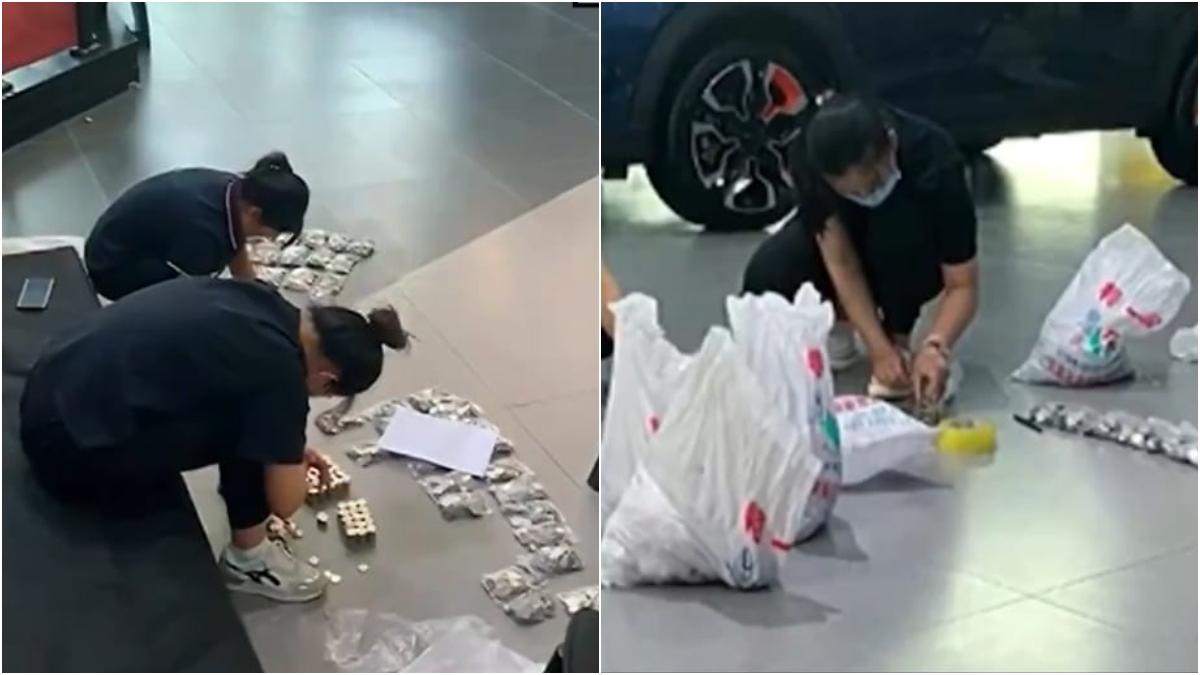 Compró un carro con monedas